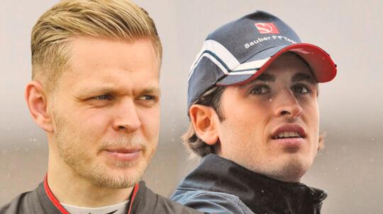Kevin Magnussen og Antonio Giovinazzi (th.)