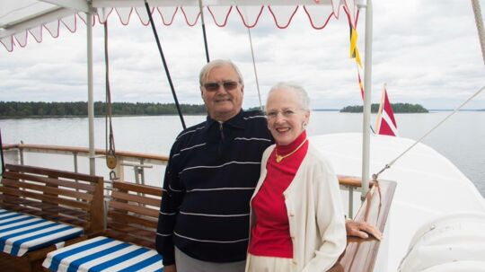Det var bare de to (næsten) alene sammen ombord på Dannebrog, da dronning Margrethe og prins Henrik i lørdags fejrede deres guldbryllup.