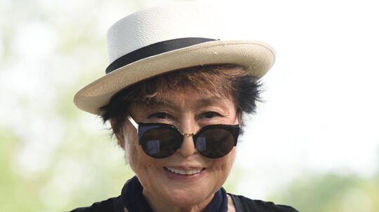 Yoko Ono har været med til at skrive Imagine. Scanpix/Don Emmert