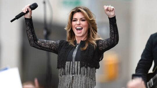 Shania Twain. Her ses hun i NBC's 'Today' i Rockefeller Center i New York. Den 16. juni.