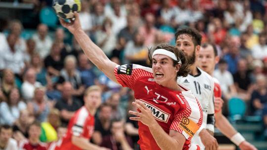 18.06.2017- EHF Handball men - Denmark - Lithuania in Kolding Denmark on june 18th.2017 Jacob Holm( Denmark 32 ). (Foto: Claus Fisker/Scanpix 2017)