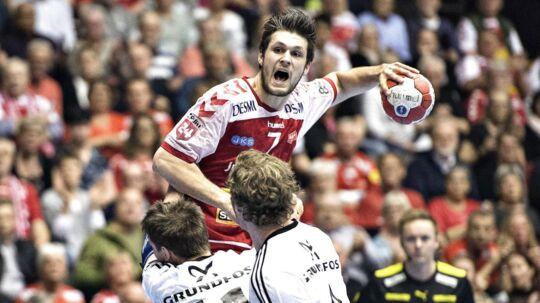Martin Larsen blev dansk mester med Aalborg Håndbold i den forgangne sæson.