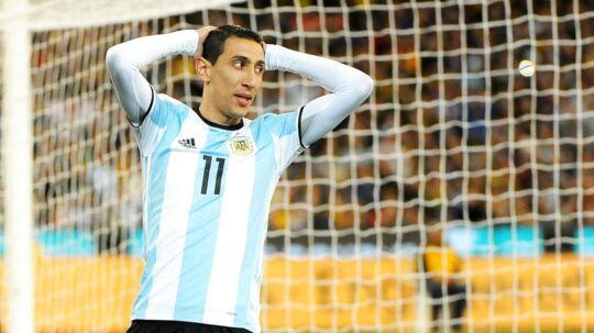 Angel di Maria, som her ses i den argentinske landsholdstrøje, betaler to millioner euro tilbage til de spanske skattemyndigheder.