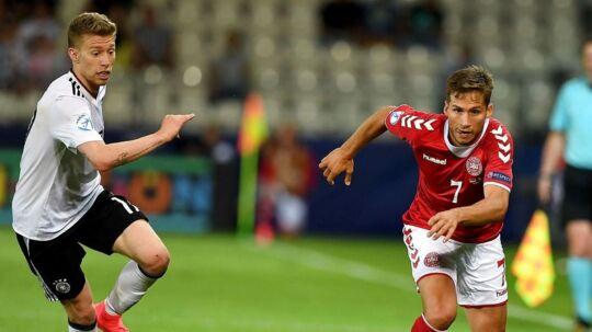 Andrew Hjulsager var - uden at spille prangende - Danmarks farligste spiller.