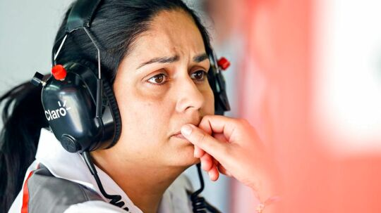 epa06041512 (FILE) - Sauber Formula One Team Principal Monisha Kaltenborn is seen during the first practice session for the 2014 Formula One Grand Prix of Spain at Circuit de Catalunya in Montmelo, near Barcelona, Spain, 09 May 2014 (reissued 21 June 2017). Monisha Kaltenborn has stepped down from her position as team principal and chief executive officer, according to media reports. EPA/SRDJAN SUKI