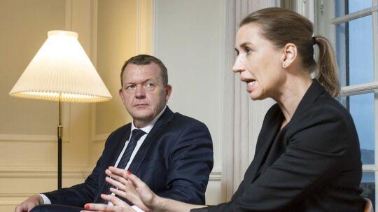 Lars Løkke og Mette Frederiksen er ikkeså langt fea inanden, som man skulle tro. S har været med i alle regeringens aftaler undtagen en, siden trekløverregeingen blev dannet.