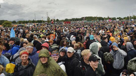 Gæster inden campingpladsen til årets Roskilde Festival åbner, lørdag den 24. juni 2017. ccc