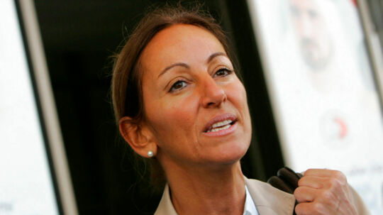 (FILES) This file photo taken on December 12, 2007 shows French journalist Veronique Robert in Dubai. French journalist Veronique Robert, wounded in the same mine blast that killed two colleagues in the Iraqi city of Mosul earlier this week, has died, employers France Televisions announced on June 24, 2017. Robert had been operated on in Baghdad and then flown back for treatment in France overnight June 22 to June 23, but died of her wounds, the public broadcaster said in a statement. / AFP PHOTO / Karim SAHIB