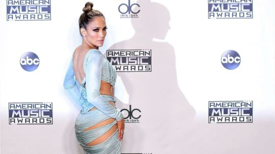 Jennifer Lopez poses in the Press Room at the 2015 American Music Awards in Los Angeles, California on November 22, 2015. AFP PHOTO / FREDERIC J. BROWN