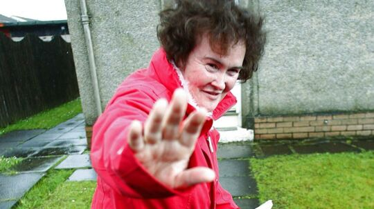 Her ses Susan Boyle. (UNITED STATES ENTERTAINMENT SOCIETY)
