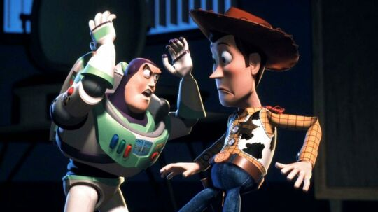 Buzz Lightyear og Woody fsp/Photo Courtesy Disney/Pixar REUTERS