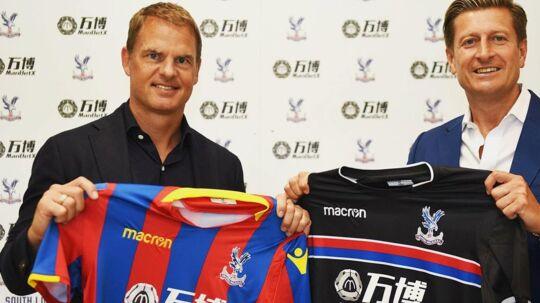 Sidste år blev Frank de Boer (tv.) fyret efter 85 dage i Inter. Nu får hollænderen chancen i Crystal Palace.