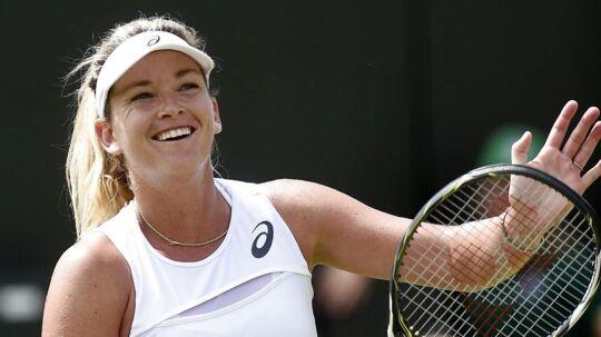 Coco Vandeweghe venter på Caroline Wozniacki i Wimbledon-turneringens ottendedelsfinale.
