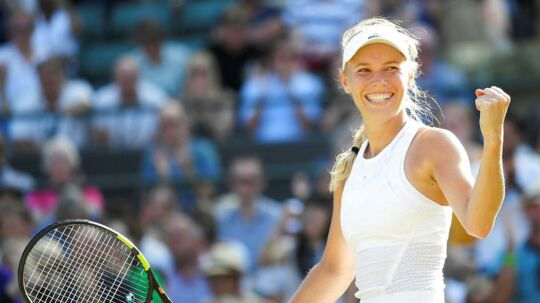 Caroline Wozniacki: »Jeg har ingen idé om, hvordan jeg vandt den kamp. Det var hårdt derude.«