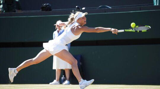 Caroline Wozniacki har ifølge Torben Hersborg aldrig været bedre fysisk.