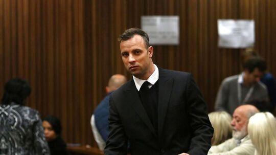 Oscar Pistorius i forbindelse med sin retssag.
