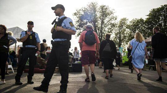 Politiet var igen i år talstærkt tilstede ved Folkemødet i Allinge på Bornholm, der blev afholdt fra den 15.-18. juni. I år var politiet indlogeret på det flydende hotel 'Bibby Stockholm', som i modsætning til 2016 var blevet udvalg i et EU-udbud.