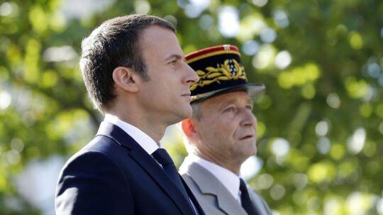 Den franske præsident Emmanuel Macron.