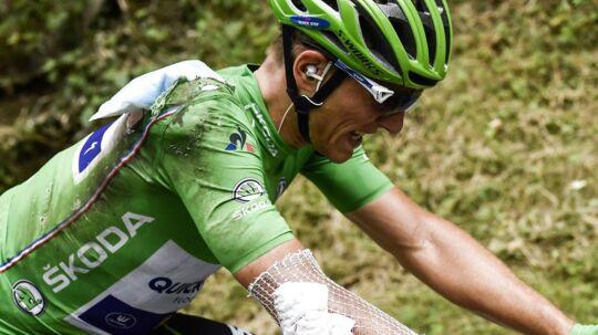 Marcel Kittel valgte onsdag at forlade årets Tour de France efter et styrt - men først efter at have bedt om nye solbriller.
