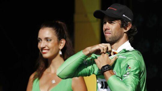 Michael Matthews er ny mand i den grønne pointtrøje i årets Tour de France, men han er ikke tilfreds med måden, det skete på.