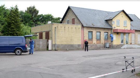 Røveriet fandt sted i denne bygning.
