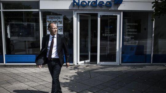 Frank Vang-Jensen, blev i foråret ny øverste chef for Nordea i Danmark, og har torsdag præsenteret sit første kvartalsregnskab i banken.