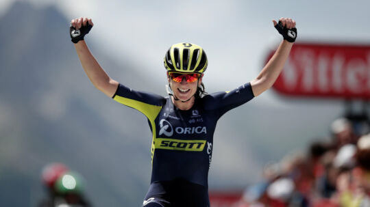 Annemiek van Vleuten tog lørdag den samlede sejr ved La Course. Reuters/Benoit Tessier/arkiv
