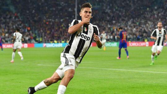 Paulo Dybala har her scoret for Juventus mod FC Barcelona. Fremover kan han måske komme til at score for katalanerne, der har udset ham til afløseren, hvis Neymar forlader klubben til fordel for Paris Saint-Germain.