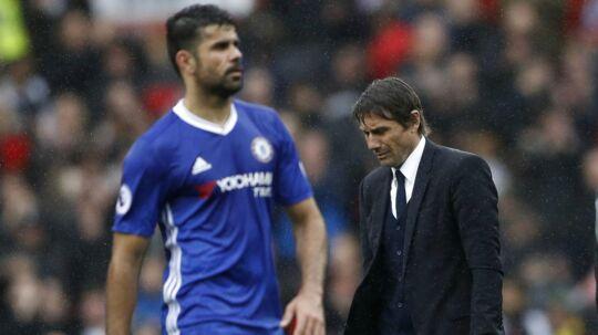 Forholdet mellem Diego Costa og Antonio Conte er ikke det bedste.