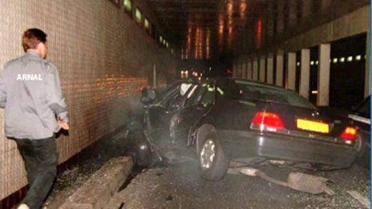 Her ses Dianas forulykkede bil i Paris i 1997.