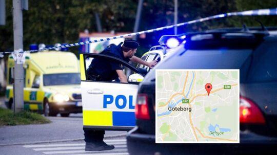 En svensk politibetjent er søndag omkommet ved Göteborg efter en politijagt. Arkivbilledet her er fra Stockholm.