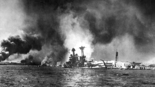 Skibet SS Minden sank i 1939 ud for Islands kyst. Det havde efter signende en guldskab om bord. Arkivbilledet her er fra Pearl Harbor, Hawai, den 7. december 1941, hvor japanske krigsfly satte ind med et ødelæggende overraskelsesangreb.
