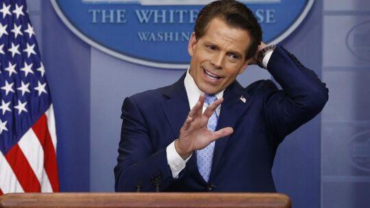Anthony Scaramucci. Det Hvide Hus i Washington. Den 21 juli.