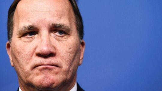 Sveriges statsminister, Stefan Löfven, er i store problemer i disse dage.