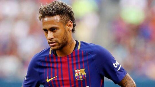 Neymar stillede natten mellem lørdag og søndag op for FC Barcelona i en testkamp.