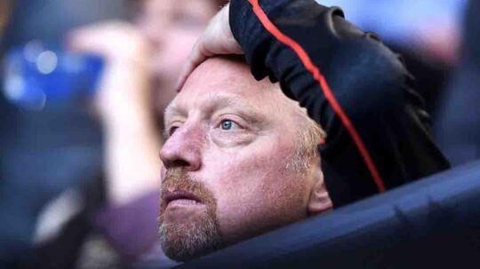 Boris Becker var taget til Wimbledon i sommer selv med konkursdommen hængende over hovedet.