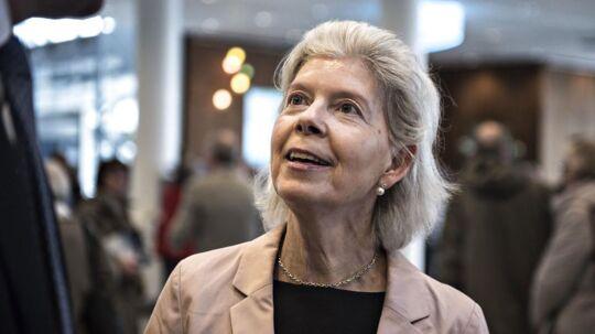 Ane Mærsk Mc-Kinney Uggla er her fotografret til A.P. Møller-Mærsks generalforsamling i Bella Center i København i marts