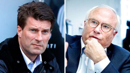 Flemming Østergaard (th) ville have Michael Laudrup til FCK.