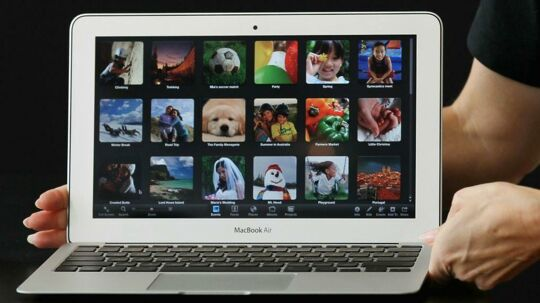 Modellen Macbook Air.