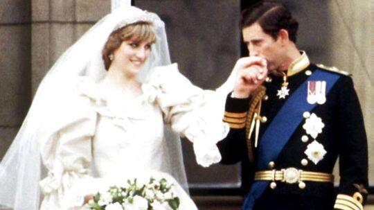 Billede fra 29 July 1981, hvor prinsesse Diana og prins Charles blev gift.