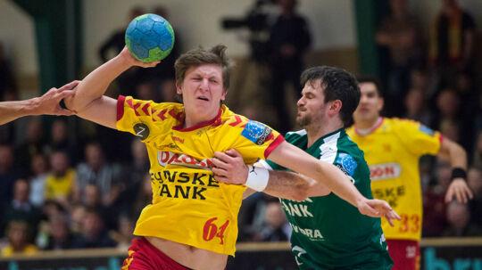 Lasse Møller fra GOG spillede en stor kamp i semifinalesejren over Frankrig.