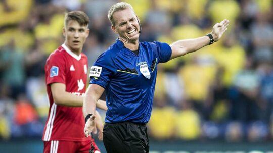 Jakob Kehlet dømte et omdiskuteret straffespark i Superliga-kampen mellem Brøndby og Lyngby.
