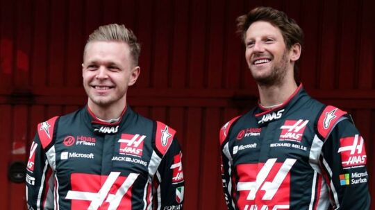 Kevin Magnussen (tv) og Romain Grosjean.