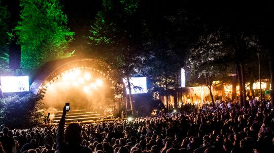 Torsdag nat d. 11. august 2017 Major Lazer lukker Bøgescenen på Smukfest torsdag nat og skabte fest til det festglade publikum.. (Foto: Helle Arensbak/Scanpix 2017)