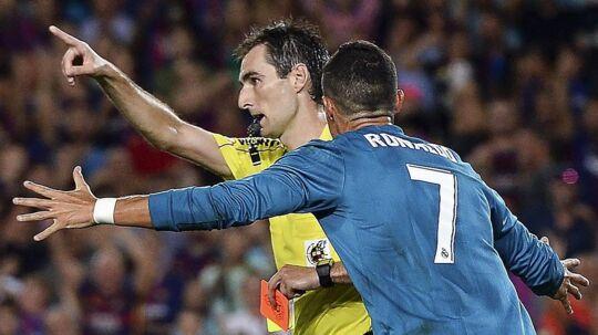 Ronaldo fik marchordre, da Real Madrid slog FC Barcelona i den første spanske Super Cup-finale.