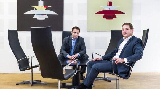 Allan Bach Pedersen og managing partner Jan Johan Kühl fra kapitalfonden Polaris.