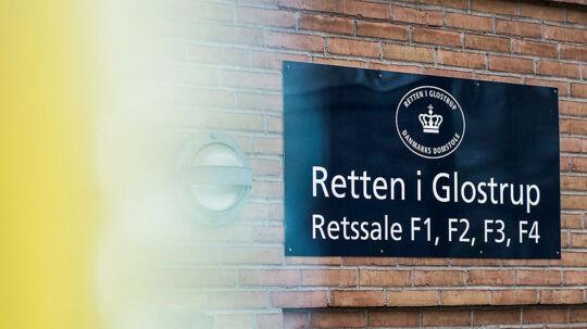 Retten i Glostrup, hvor sagen mod den tiltalte psykiater foregår.