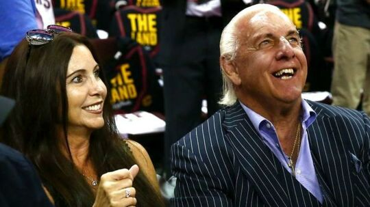 Ric Flair med Wendy Barlow.