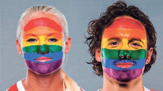 Landsholdsspillerne Pernille Harder og Thomas Delamey er blandt dem, DBU bruger i sin kampagne 'Fodbold er for alle'.