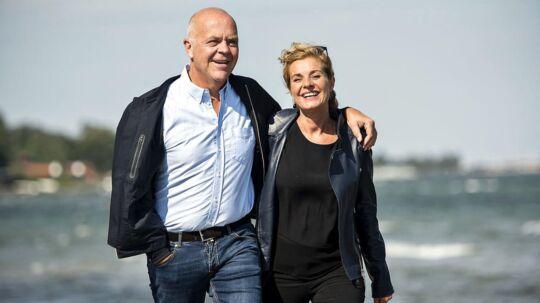 Jes Dorph-Petersen med kæresten Maj-Britt nær hjemmet i Hellerup.